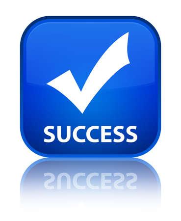 valider: Succ�s (valider ic�ne) bouton bleu carr�
