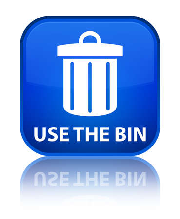 waste 3d: Use the bin (trash icon) blue square button