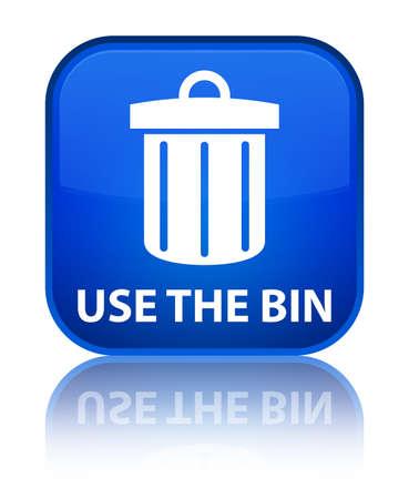 Use the bin (trash icon) blue square button photo