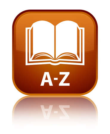 az: A-Z (book icon) brown square button