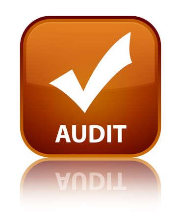 valider: Audit (validate ic�ne) de bouton carr� brun