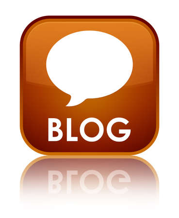 conversation icon: Blog (conversation icon) brown square button