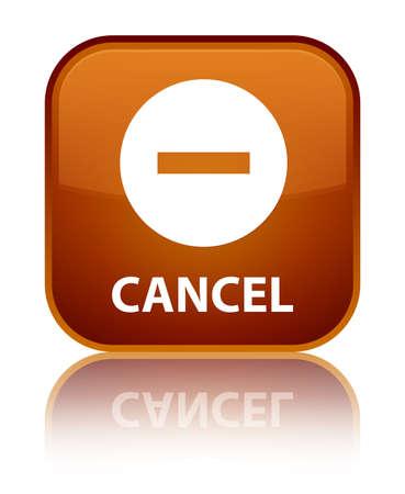 Cancel brown square button Stock Photo