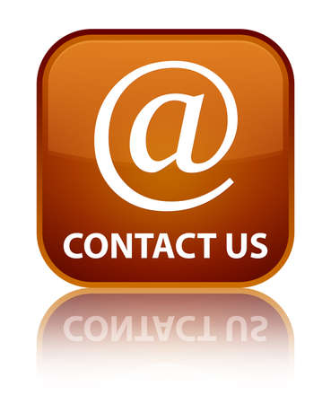 email address: Contact us (email address icon) brown square button