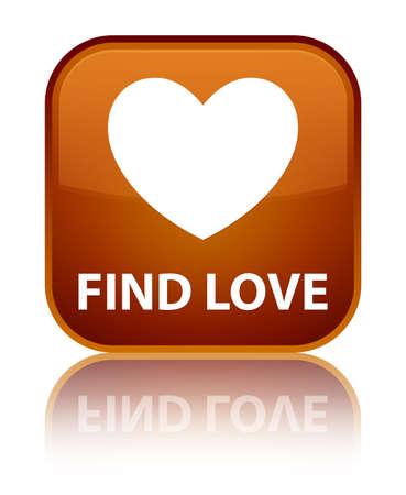 valentin's: Find love brown square button