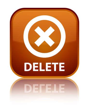 delete: Delete brown square button