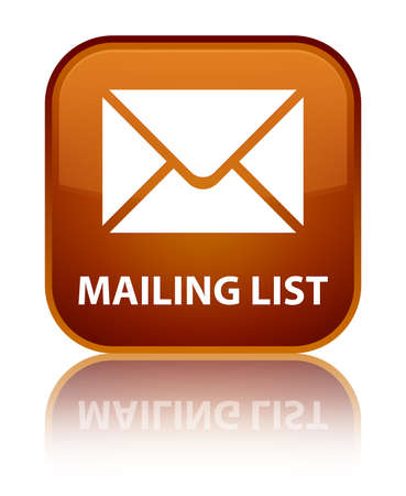 mailing: Mailing list brown square button