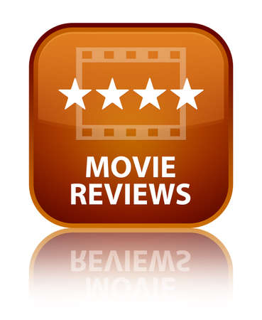 ratings: Movie reviews brown square button