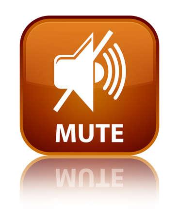 beep: Mute brown square button