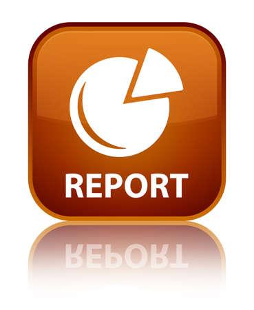 Report (graph icon) brown square button photo