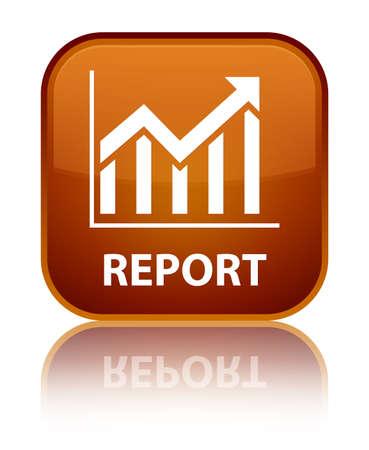 report icon: Report (statistics icon) brown square button