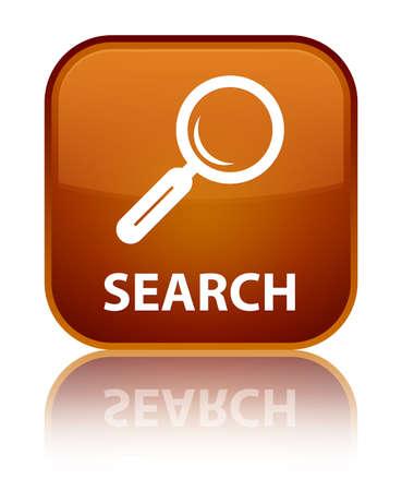 Search brown square button photo