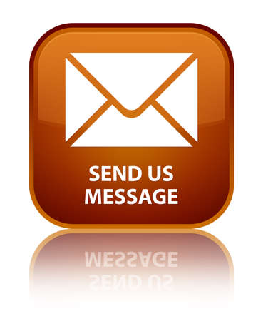 flysheet: Send us message brown square button