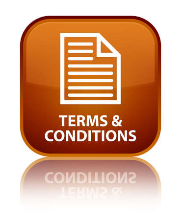 conditions: Terms and conditions (page icon) brown square button