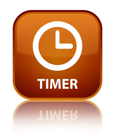 timer: Timer brown square button