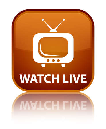Watch live brown square button photo