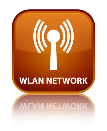 wlan: Wlan network brown square button