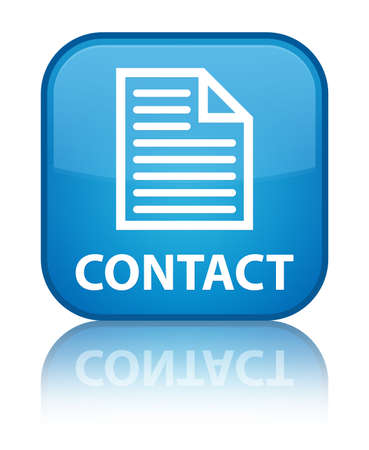contact page: Contact (page icon) cyan blue square button