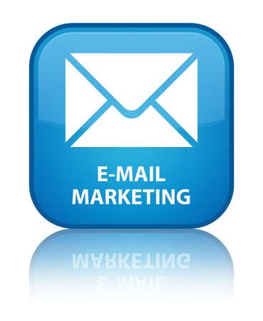 flysheet: E-mail marketing cyan blue square button