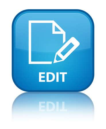 Edit cyan blue square button