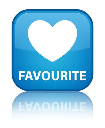 the favourite: Favourite (heart icon) cyan blue square button