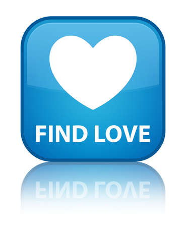 to find: Find love cyan blue square button