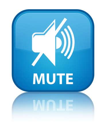 mute: Mute cyan blue square button