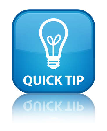 hint: Quick tip (bulb icon) cyan blue square button