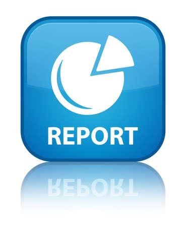 Report (graph icon) cyan blue square button photo
