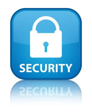 key hole shape: Security (padlock icon) cyan blue square button