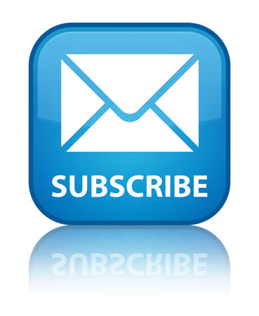 web feed: Subscribe (email icon) cyan blue square button