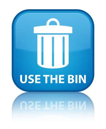 Use the bin (trash icon) cyan blue square button photo