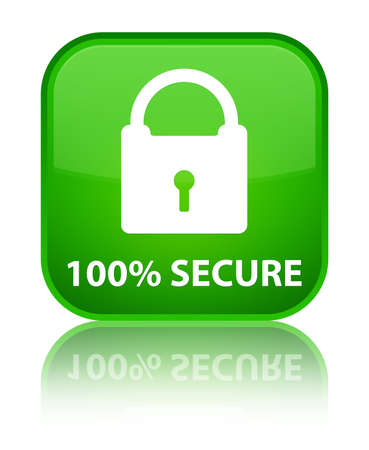 secure: 100% secure green square button