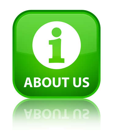 'about us': About us green square button