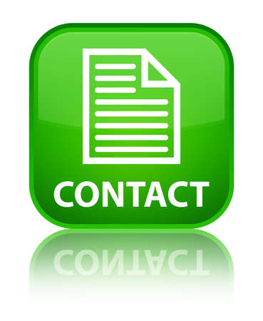 contact page: Contact (page icon) green square button