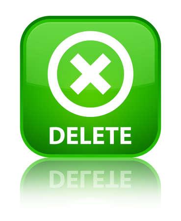delete: Delete green square button