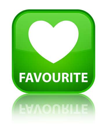 favourite: Favourite (heart icon) green square button