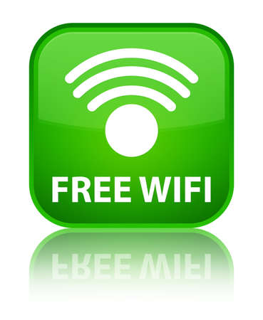 crossover: Free wifi green square button