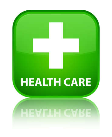 plus sign: Health care (plus sign) green square button