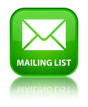 mailing: Mailing list green square button