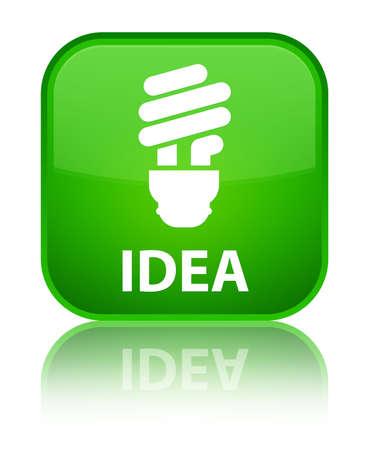 incandescence: Idea (bulb icon) green square button