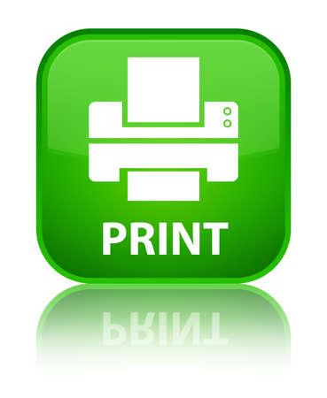 multifunction: Print (printer icon) green square button Stock Photo
