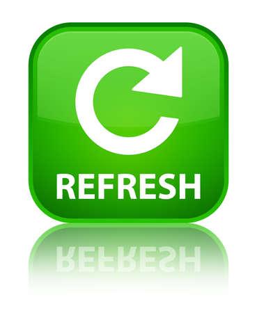 Refresh (rotate arrow icon) green square button