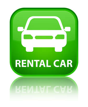 employ: Rental car green square button
