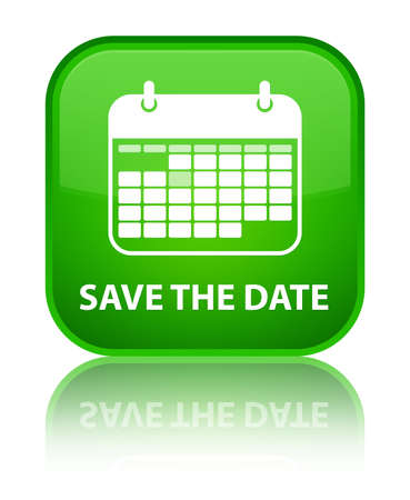 appointments: Save the date green square button