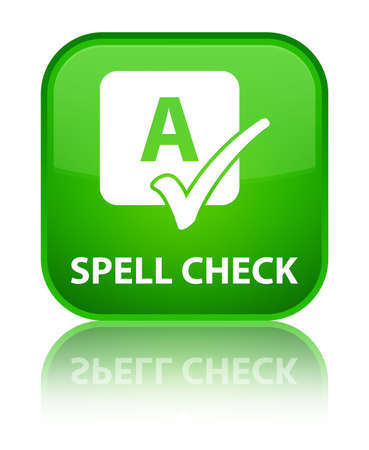 spell: Spell check green square button