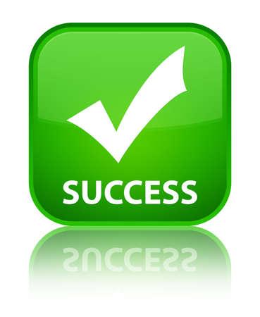 valider: Succ�s (valider ic�ne) bouton vert carr� Banque d'images