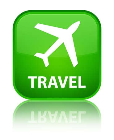 airway: Travel (plane icon) green square button