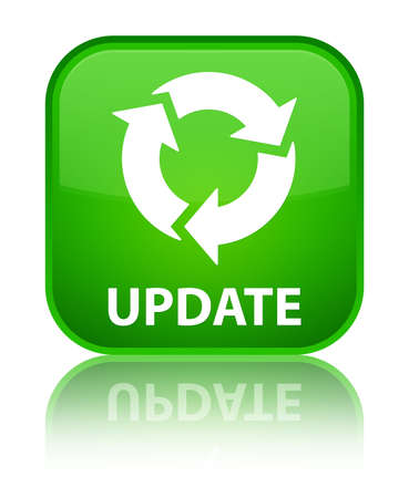 更新 (リフレッシュ アイコン) 緑四角ボタン