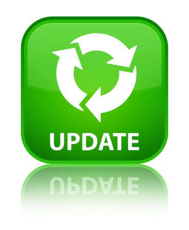 Mise à jour (rafraîchissement icône) de bouton vert carré Banque d'images - 37915202